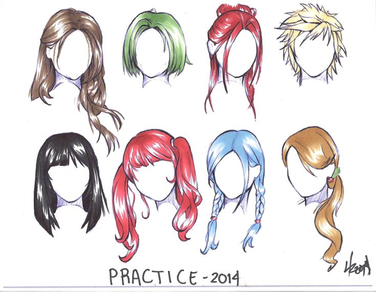 Anime Hair Coloring Practice | how to draw manga 3d
