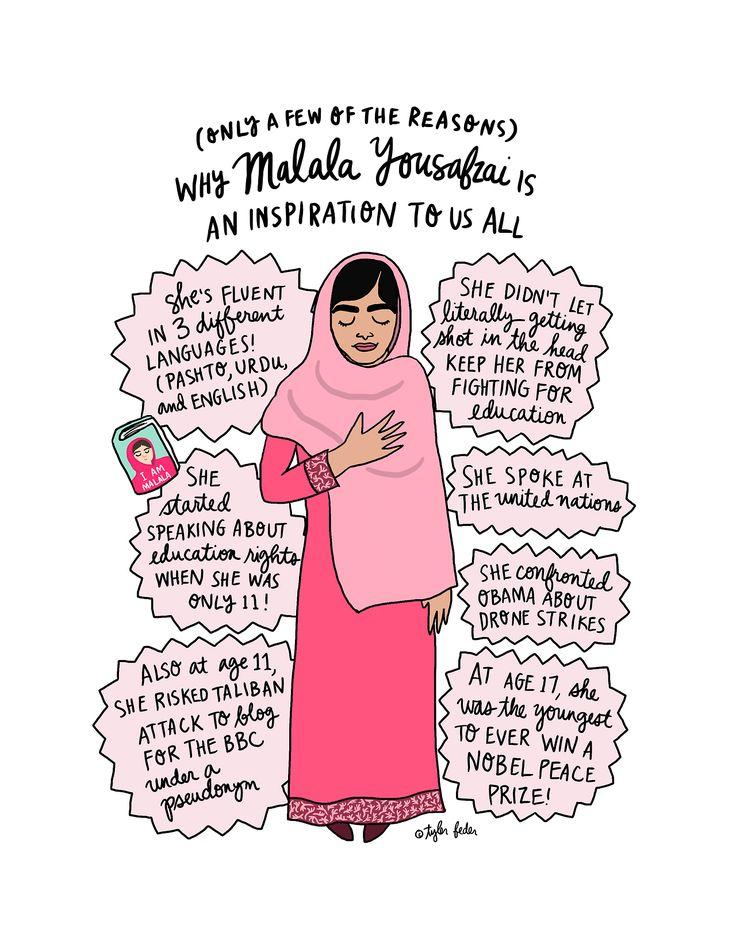 Malala Print - 8.5x11 - Hand-Illustrated