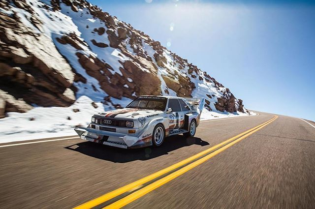 The Legendary Race To Clouds Original Audi Quattro S1 Driven By German Rally Champion Harald Demuth Relived Historic Pikes Peak