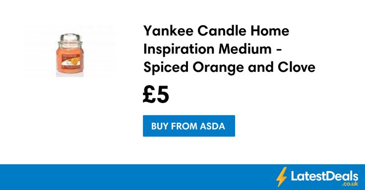 Yankee Candle Home Inspiration Medium - Spiced Orange and Clove Save £4, £5 at ASDA