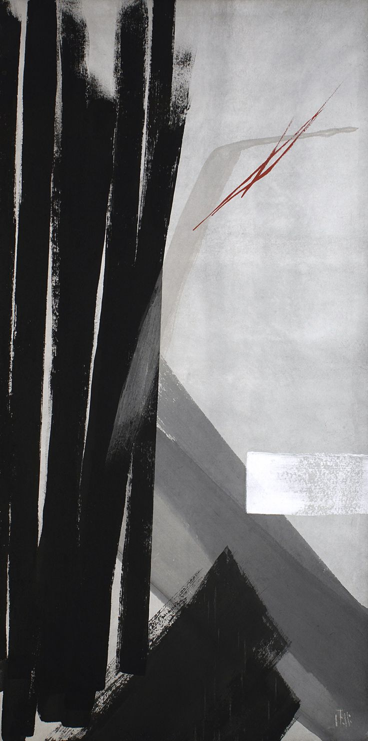 Tokou SHINODA beautiful composition in black and greys