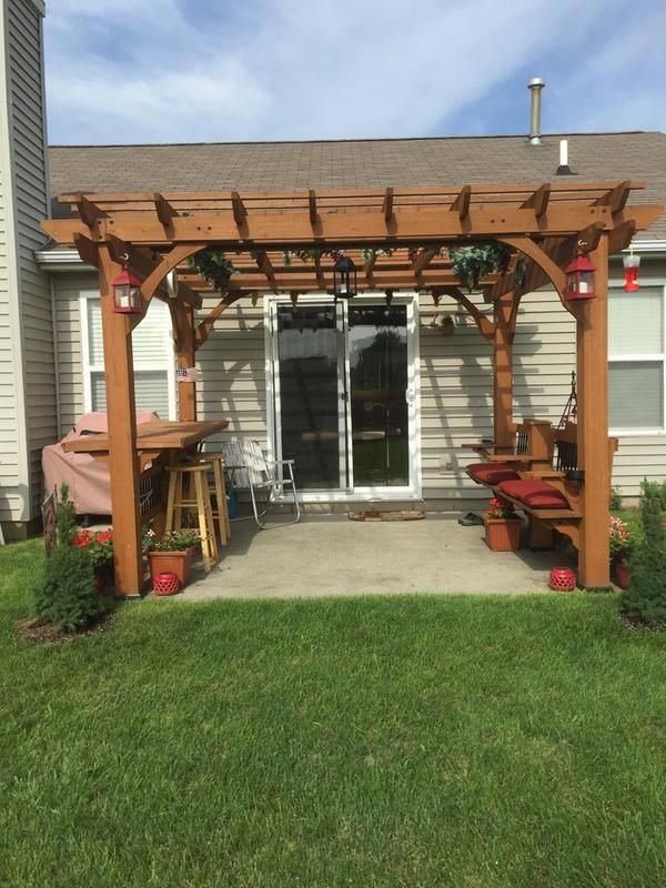 12 X 10 Pergola Pergola Patio Small Backyard Landscaping Backyard Pergola