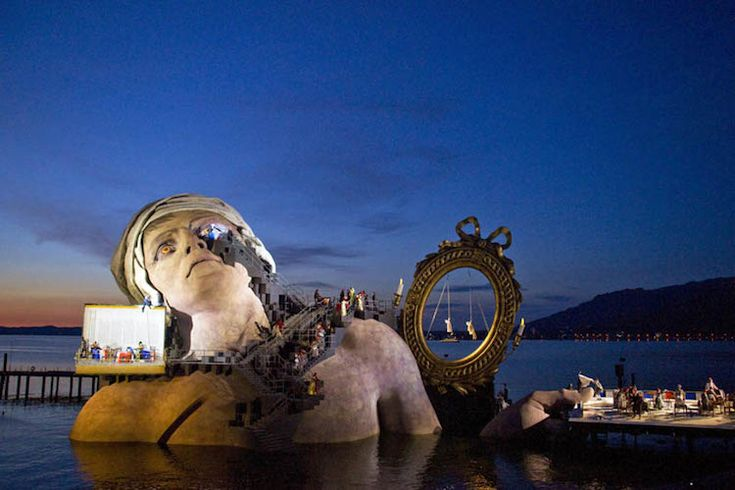 Since 1946, the Bregenz Festival has maintained the 'Opera on the Lake', a 6,800 capacity floating stage on Lake Constance in Austria. Even more impressive than the actual stage is the fact that they change its design every two years, ensuring that the scene never gets stale.
