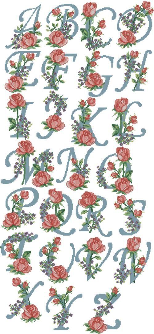 Advanced Embroidery Designs - Rose Alphabet
