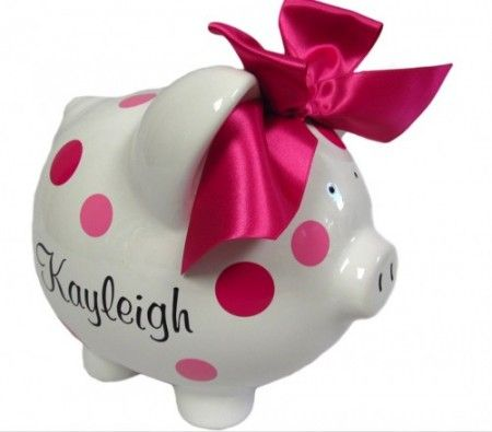 Best 25 personalized piggy bank ideas on pinterest baby piggy personalized piggy bank negle Choice Image