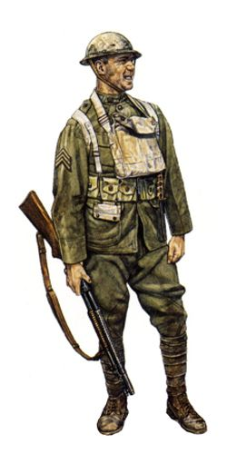 Sargento, 42ª División, St. Mihiel, Septiembre de 1918. UK, pin by Paolo Marzioli