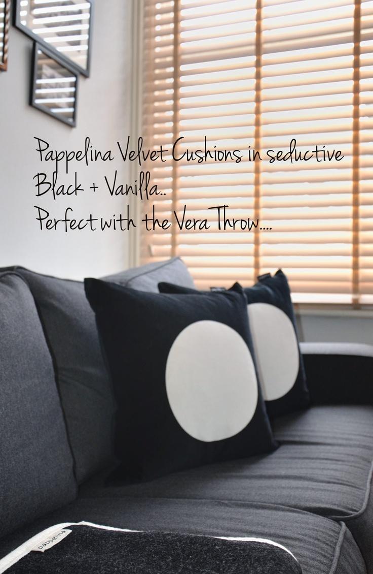 Pappelina Velvet Cushions... Gorgeous.