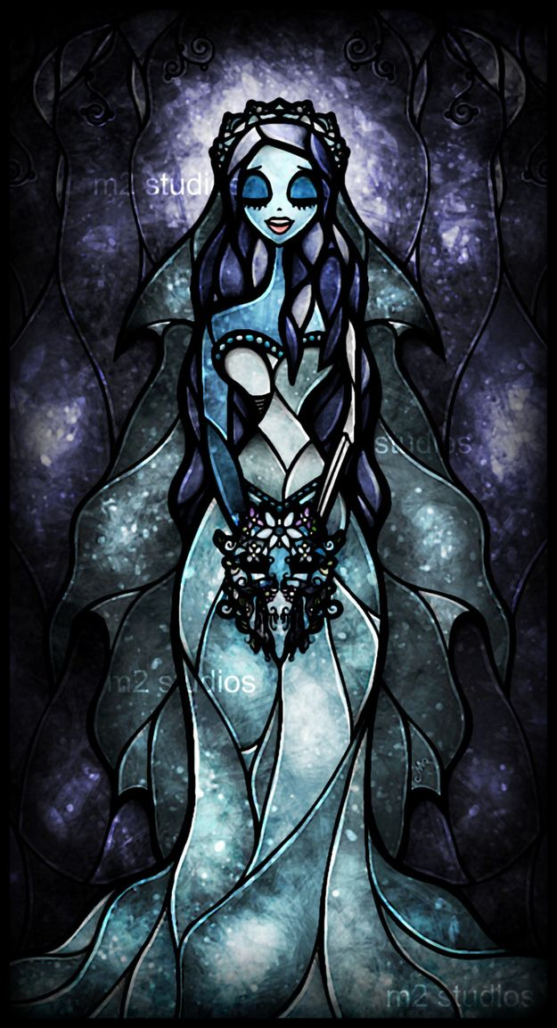 Mandie Manzano's stained glass Corpse Bride. BEAUTIMOUS!!