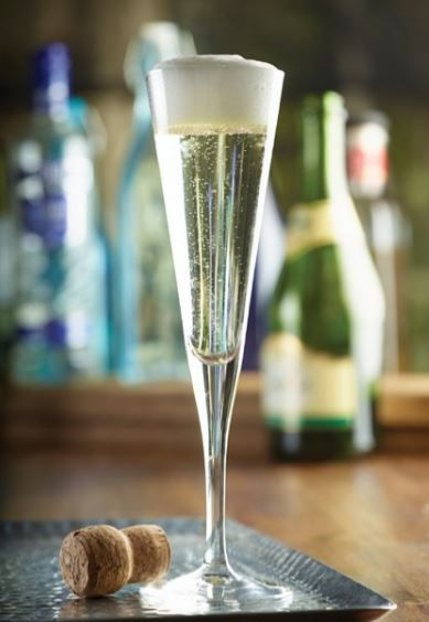 A glass of fizz is always good!  Start your evening in style!