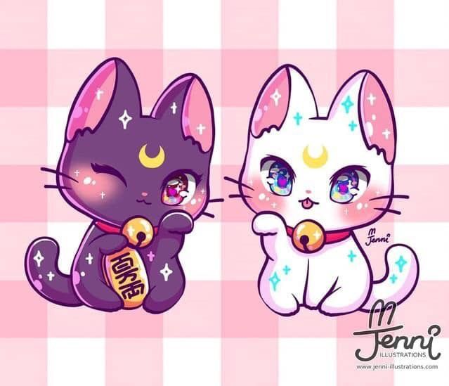 Pin By Jams Unicorn On Animaux Domestiques Chibi Cat Cute