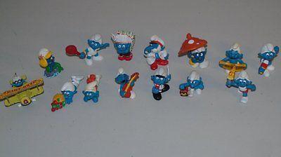 Stamp Pickers Vintage 1981 Peyo Schleich Smurfs Lot x 14 VG+ $160+