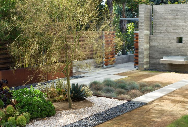Stone + Gravel + Wood + Silvery Vegetation U003d Perfect Low Maintenance Yard  Picture From The Brick House.com | Dream Home | Pinterest | Low Maintenance  Yard, ...