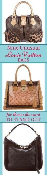 Louis Vuitton bags for those who want to stand out from the LV crowd.  #BeLVBold