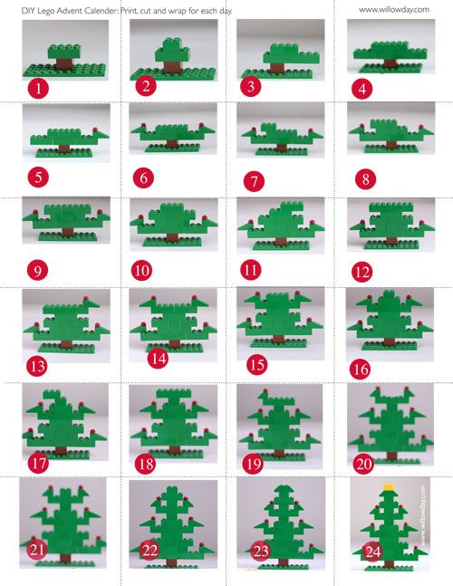 9 Cute and Fun DIY LEGO Craft Projects ... Tree advent calendar
