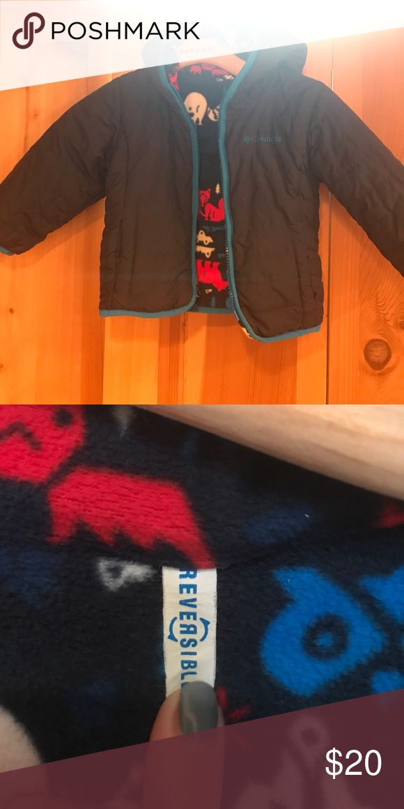Reversible Columbia coat 2T EUC no defects. Fleece on inside, quilted on outside Columbia Jackets & Coats Puffers