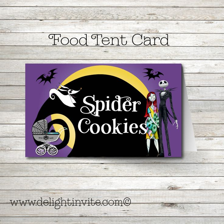 12 best nightmare before christmas baby shower invitations images on nightmare before christmas baby shower food tent cards filmwisefo