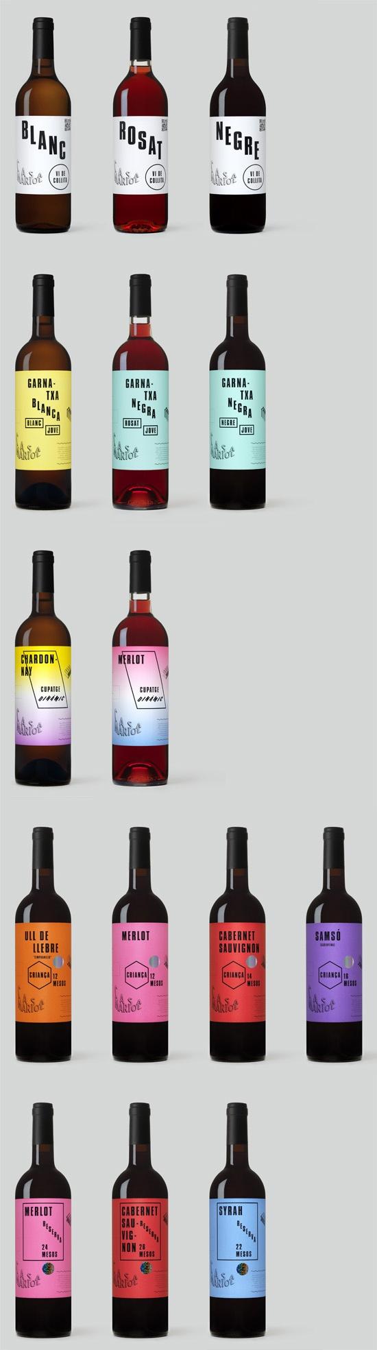 Casa Mariol wine collection by Bendita Gloria , via Behance
