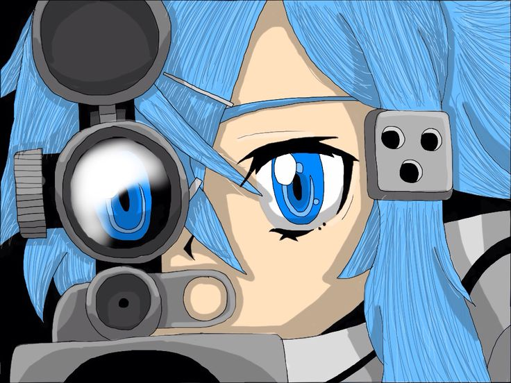 this is the sinon pic except i coloured it on my tablet
