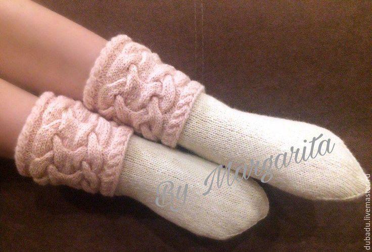 Купить Носки вязаные, шерстяные носки, домашняя обувь - носки ручной работы, подарок на новый год