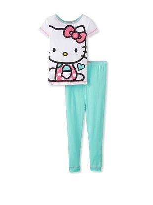 53% OFF Kid's Hello Kitty 2-Piece Pajama Set (Blue)