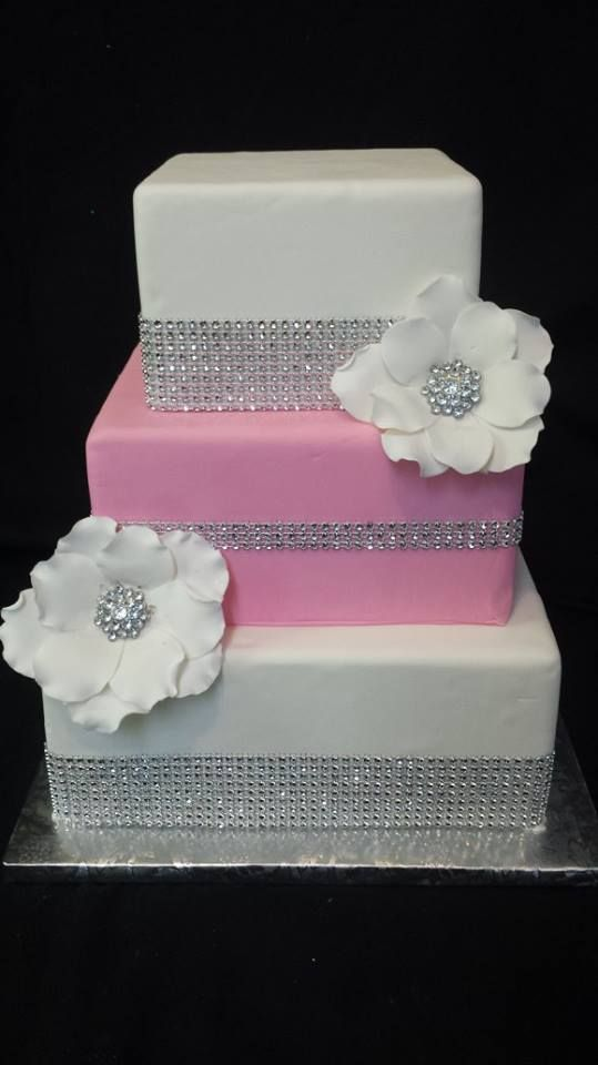 Pink Amp Bling In 2019 Elegant Birthday Cakes Bling