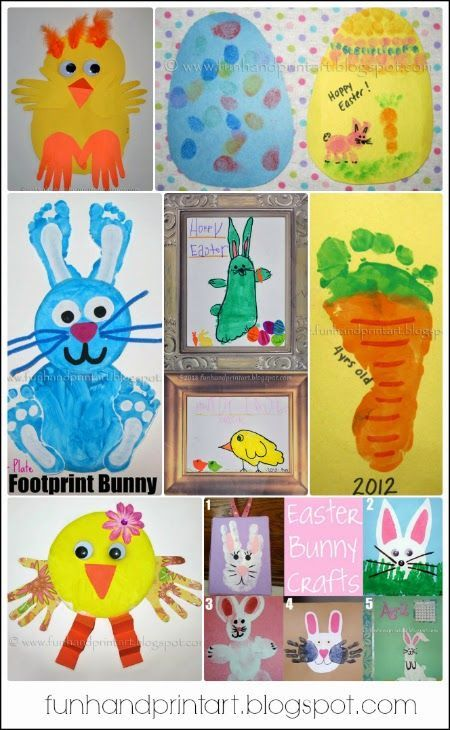 Handprint and footprint easter crafts huge list easter for F crafts for toddlers