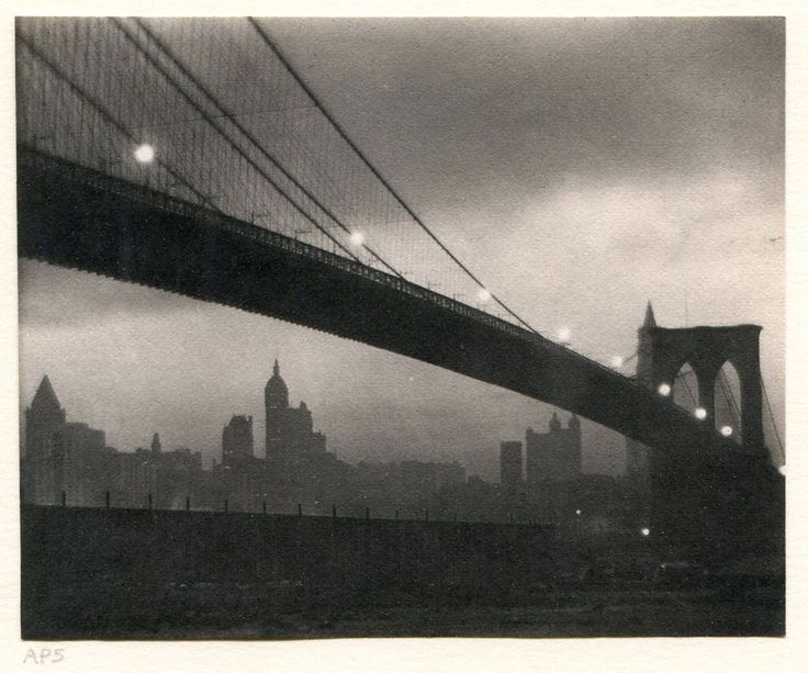 KARL STRUSS BROOKLYN BRIDGE NYC PLATINUM PRINT SIGNED FANTASTIC! MUST SEE!
