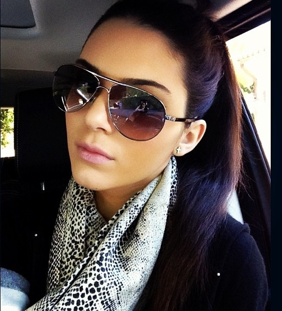 Scarf, Cross Earings, Sweater, and Aviators <3 Wonderful Casual Look. :)