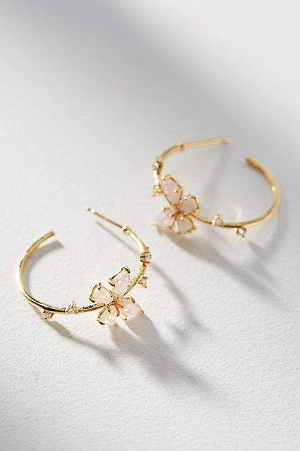 Amazing Anthropologie Floating Butterfly Hoop Earrings