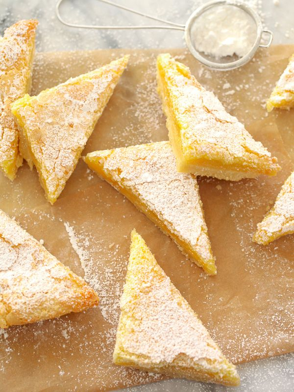 Meyer Lemon Bars for the ultimate sweet holiday treat | foodiecrush.com