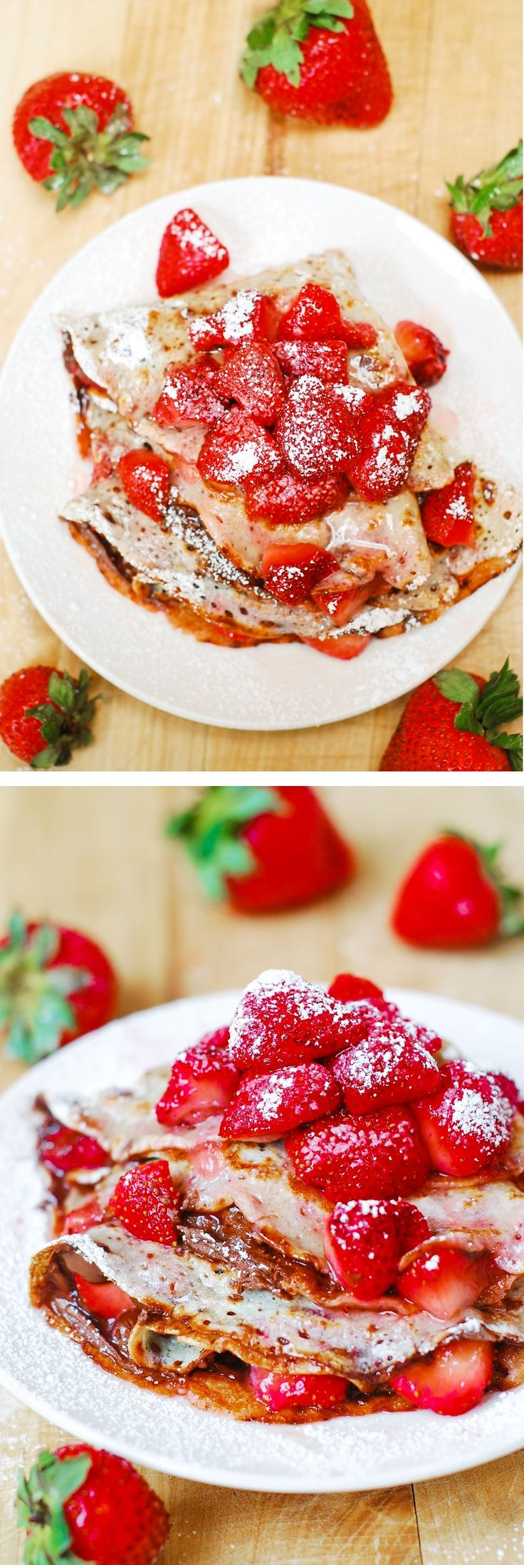 Strawberry and Nutella crepes | Recipe