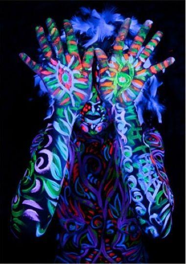 Glow in the Dark Body Paint ...XoXo | ideas | Pinterest ...