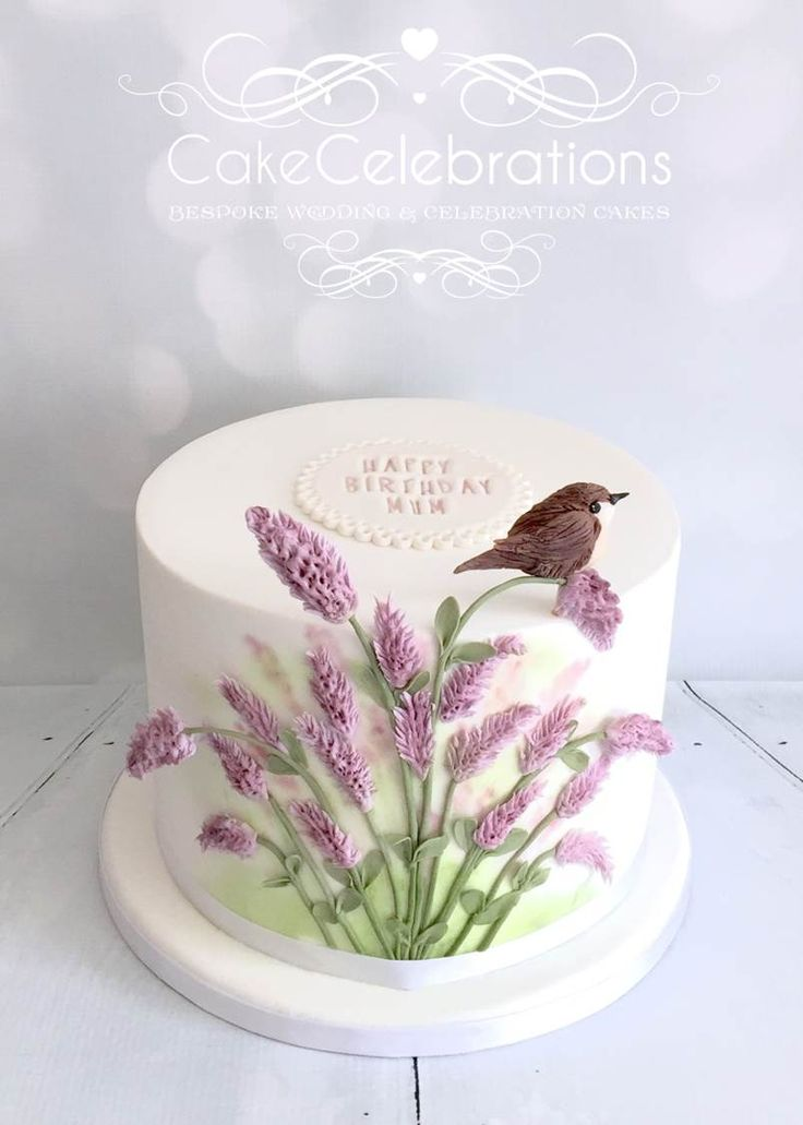 Celebration Birthday cake for an 87 year old yound lady who loves flowers and birds