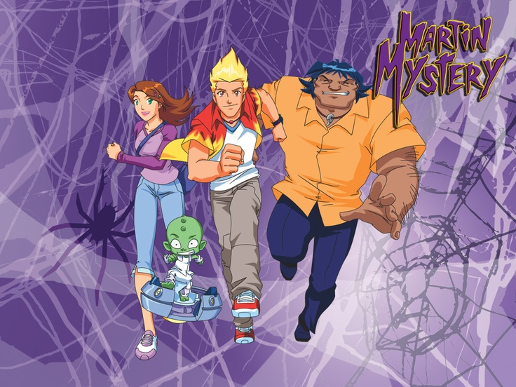 MARTIN MYSTERY cast goes to school here to help the ghostbusters with anything supernatural stuff on campus
