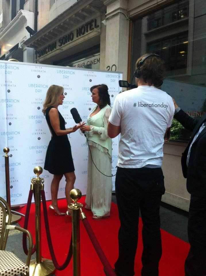 Interviews on the red carpet.