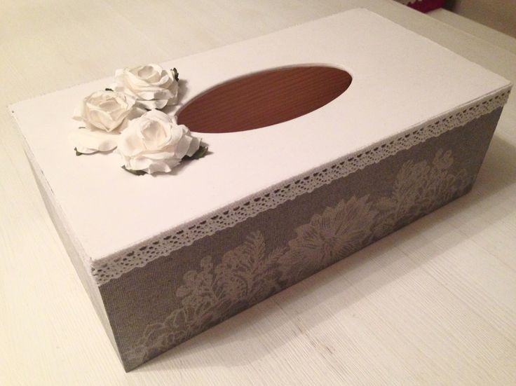 Decoupage - tissue box cover