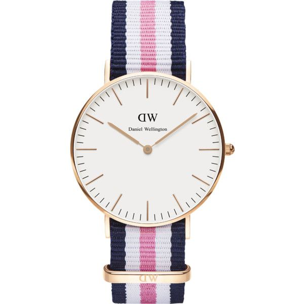 Daniel Wellington Classic Southampton Rose Gold Watch ($190) ❤ liked on Polyvore featuring jewelry, watches, women's accessories, pink gold jewelry, red gold watches, rose gold watches, leather-strap watches and red gold jewelry