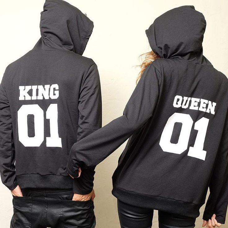 Matching Couple Hoodies KING Queen,  - Avenue Of Angels