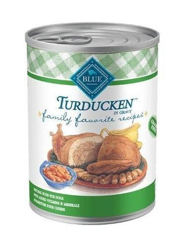 Blue Buffalo Family Favorite Recipes Turducken Can Dog Food 12/12.5oz