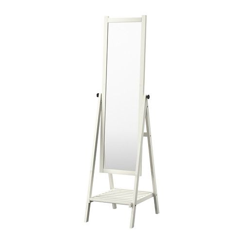 ISFJORDEN Mirror IKEA Safety film  reduces damage if glass is broken. Solid wood, a hardwearing natural material. $129