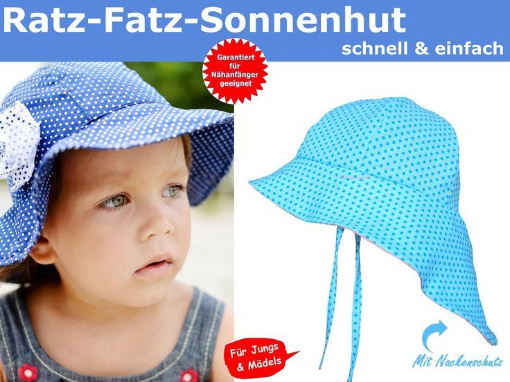 Schittmuster Sonnenhut Kinder - Baby   Sonnenhut baby