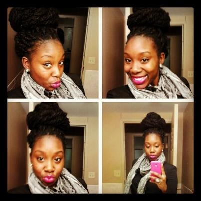 Is she looking adorable in her HAVANA TWIST updo or what??????