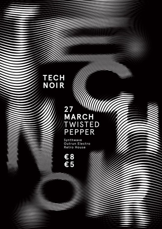 poster / Technoir by Ronan Kelly / black and white