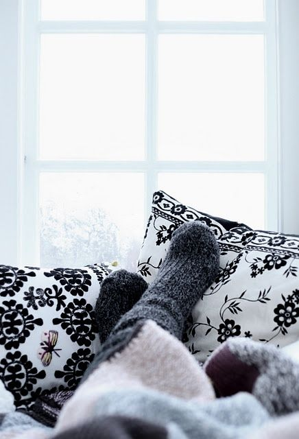 Socks and thrown on a cold day outside