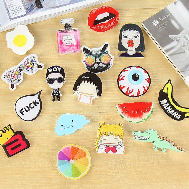 1 PCS Kawaii Cartoon Badges Acrylic Pin Badge Decoration Pins Brooch Backpack Broochs Decorative Brooches