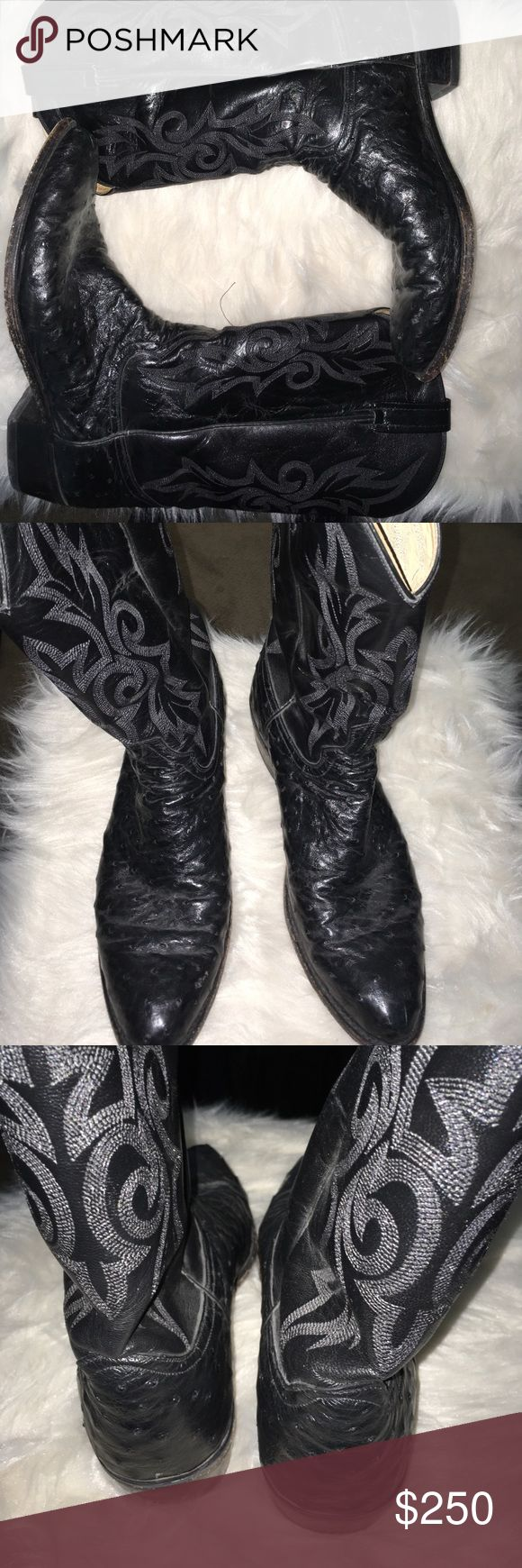 Dan Post Men's 12D Ostrich Boots😳👍 Gently used pair of awesome Ostrich Dan Post Boots! 12D if need any additional pics let me know! Dan Post Shoes Boots