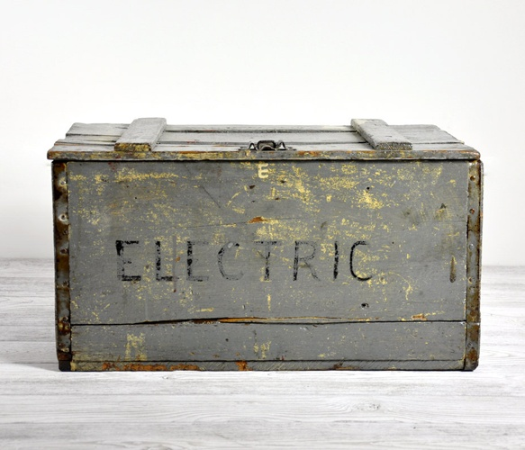 This Grey Wooden Crate is a perfect place to store your all secrets!
