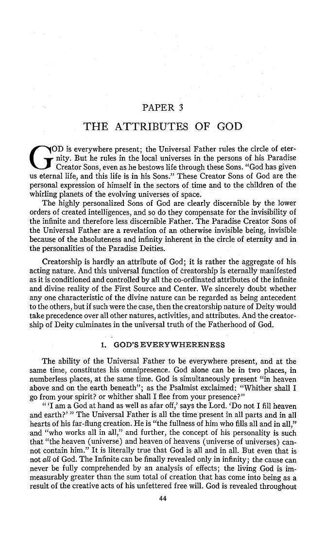 essay on god the father It is thus logical that god, being our father, be also our mother our father desires, our mother operates and our good lord the holy ghost confirms we are thus well advised to love our god through whom we have our being.