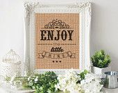 Wall Art Print - Burlap Printable - Printable Art - Burlap Print - Inspirational Art - Quote Print - Instant Download - Printable Wall Quote