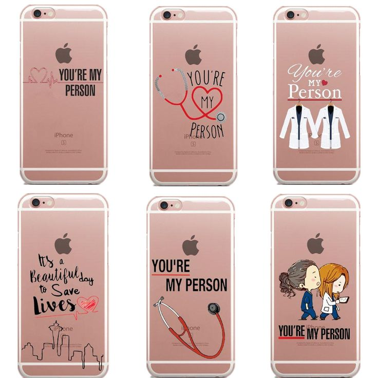 You're My Person Quote Personalised Grey's Anatomy Thin silicone TPU Phone Case For iphone 5 5S SE 6 6S Plus 7 7Plus 8 8Plus X PTC 271